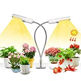 50w LED Plant Light, 100 LEDs Super Bright Sunlike Full Spectrum Grow Bulb for Indoor Plants, 360° Gooseneck Plant Grow Lamp with Replaceable E27/E26 Bulb, Perfect for Seedling Blooming Fruiting