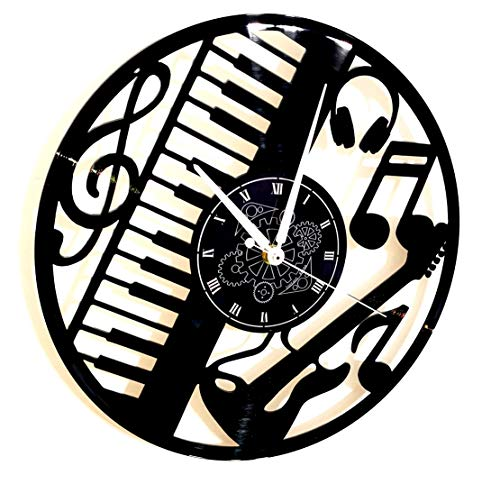 Instant Karma Clocks vinyl wandklok, platen, 33 omwentingen, gitaar, drums, muziekinstrumenten, vintage, stil