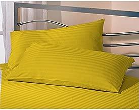 "AVI Set 2 Microfiber Pillow with 2 Pillow Cover Standard Size, Golden (17 * 27"")"
