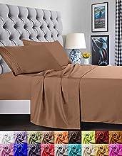 Elegant Comfort Juego de sábanas de 1500 Hilos, Calidad egipcia, Supersuave, Antiarrugas y Resistente a la decoloración, 4 Piezas Matrimonio marrón