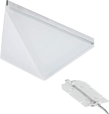 Paulmann 93584 Kit meuble lumières en saillie Kite LED 2x6,2W, triangle, 15VA, 230/12V, 149x143mm, Alu brossé/al
