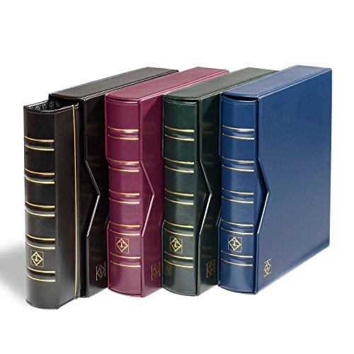 Leuchtturm 313506 Münzalbum Optima Classic   Inkl. 10 Optima Münz-Hüllen für Ø 42, 27, 20, 34 mm und 2 Deckblätter   Mit Schutz-Kassette   schwarz