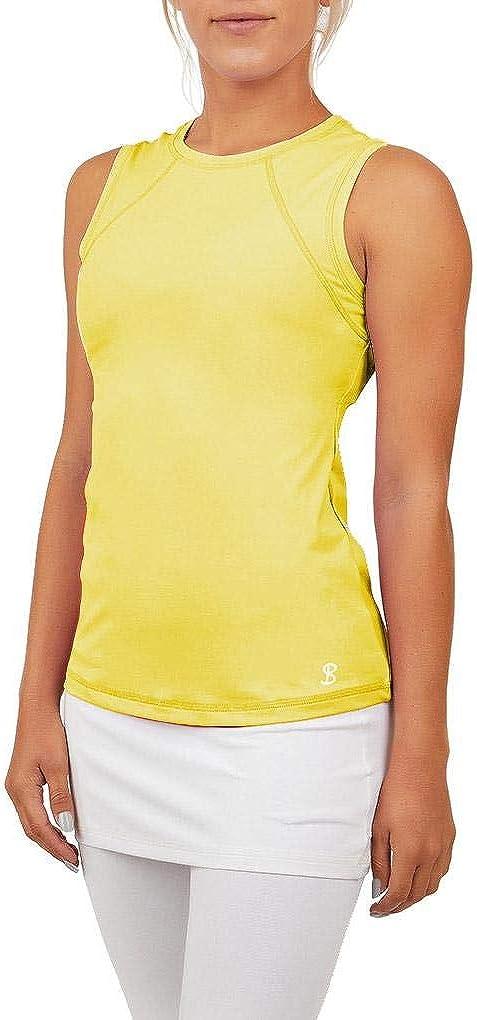 SOFIBELLA Rapid rise UV Colors Sleeveless Top - Time sale Sunshine
