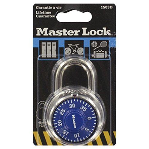 Master Lock Rundes Zahlenschloss 48 mm - Farblich sortiert, 1503EURD