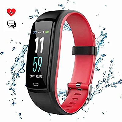 Mgaolo Fitness Tracker Smart Watch Activity Tracker Sports Band Bracelet Waterproof Bluetooth Wristband with Heart Rate Monitor Pedometer Sleep Monitor Calorie Step Counter Blood Pressure(Red)