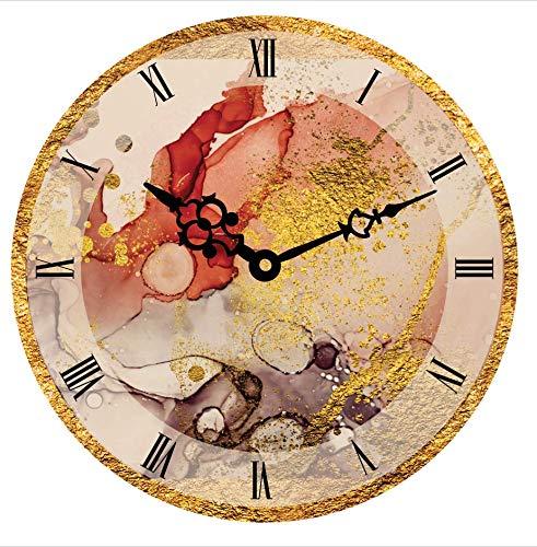 Real Art Reloj de pared analógico de cerámica decorativo de 11 pulgadas – 1 paquete de regalo multicolor