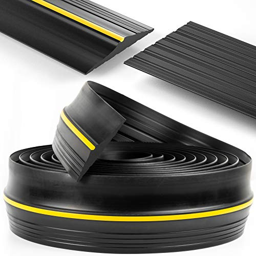 Buy Discount Panady Universal Garage Door Bottom Threshold Rubber Seal Strip 20Ft Black DIY Weather ...