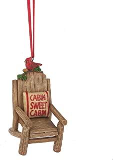 Cabin Sweet Cabin Chair Ornament with Red Cardinal by Midwest-CBK