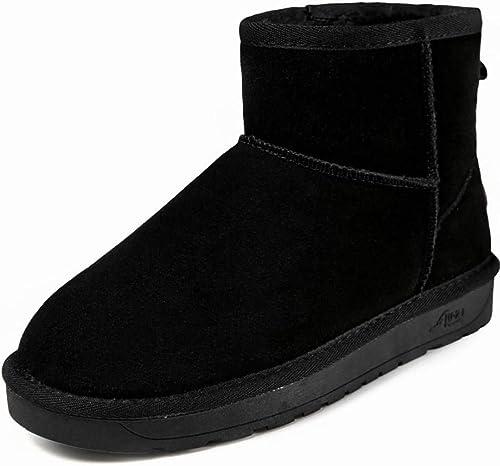 ZHRUI Bottes de Neige en Microfibre synthétique pour pour Femmes (Couleuré   Noir, Taille   36)  à bon marché