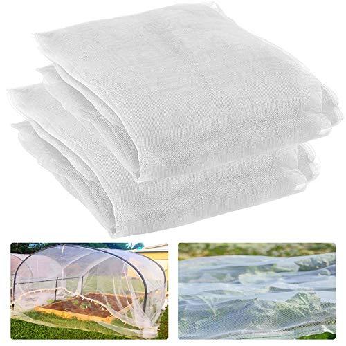 2 Pack Garden Screen Barrier Netting Mesh Netting 9.8ft × 6.5 ft (White)