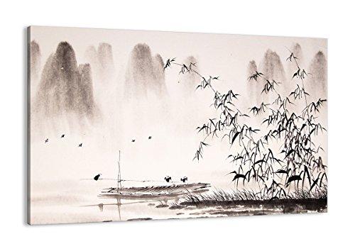 ARTTOR Bild auf Leinwand - Bilder Schlafzimmer und Bilder Wohnzimmer Modern - Wanddekoration für alle Räume in vielen Größen - AA120x80-3116