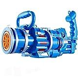 HOMAGA YuanHjyx 2 en 1 máquina de Burbujas eléctricas con Bubble Toy Gatling Bubble Gun niño Juguete niños Regalo de Deportes al Aire Libre