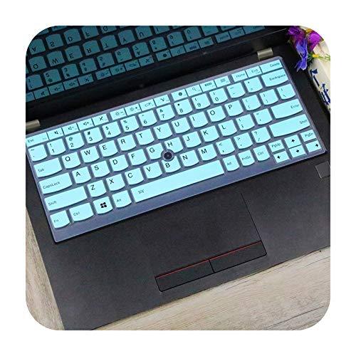 Funda de silicona para teclado Lenovo ThinkPad X13 L13 X270 X280 X390 X395 L390, X380 Yoga, X390 Yoga, Yoga Laptop-whiteblue