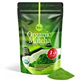 Organic Matcha Green Tea Powder USDA Certified - 100% Pure Macha Ceremonial and Culinary Grade for...