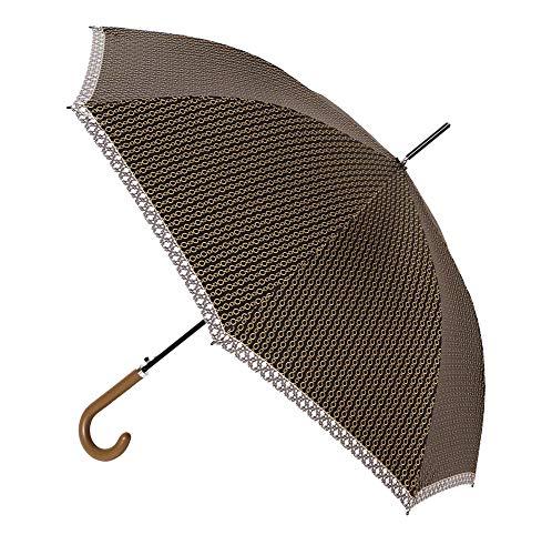 Elegante Paraguas Vogue de Estilo clásico. Paraguas Mujer. Estampados con Motivos Cadenas. Paraguas automático, antiviento y Acabado Teflón. (Estampado...