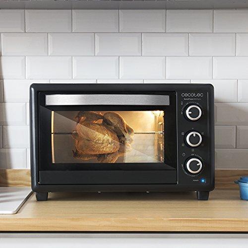Cecotec Horno Conveccion Sobremesa Bake&Toast 650 Gyro. Capacidad de 30 litros, 1500 W, 5 Modos, Temperatura hasta 230ºC y Tiempo hasta 60 Minutos, Incluye Accesorio Rustidor con pinzas