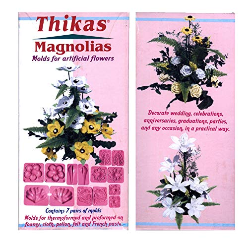 Thikas Magnolias - Moldes para flores termoformadas, contiene 7 pares de moldes