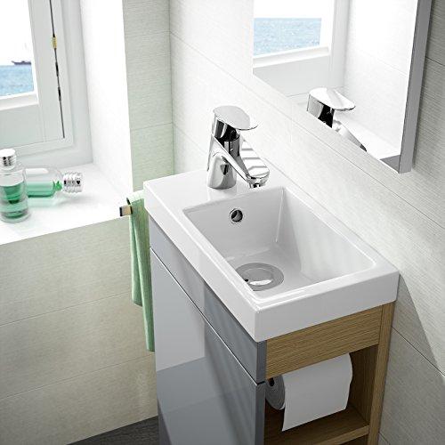 Gäste WC Badmöbel Set WT Waschbecken Bild 2*