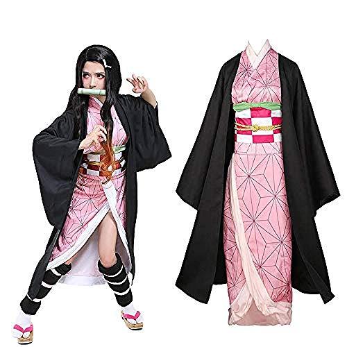 OIUC Disfraz de Kamado Nezuko Cosplay con Bamboo-L para mujer