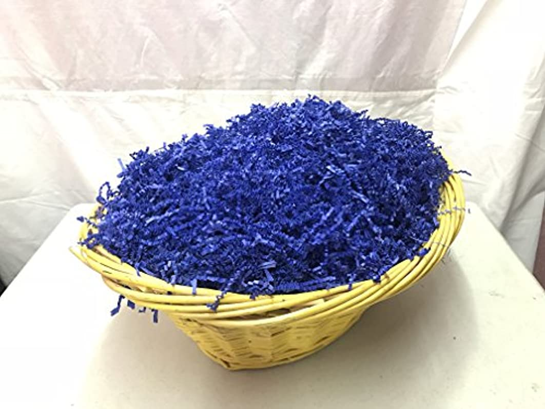 Spring-Fill Royal Blue Crinkle Cut Paper Shred (32 Ounces (2 pounds))