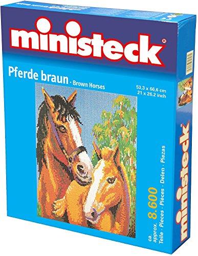 Steekplaten. Paarden bruin