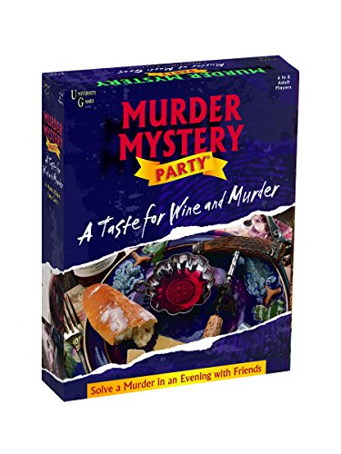University Games Murder Mystery Party - A Taste for Wine & Murder, Multicolor (33202)