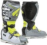 Forma Terrain TX 2.0 - Botas de Motocross (Talla 42), Color Gris y Amarillo