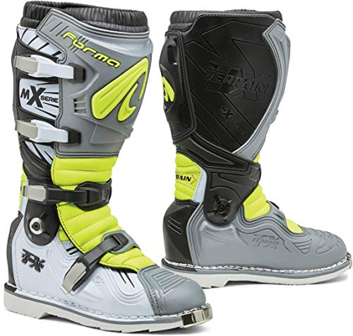 Forma Terrain TX 2.0 Motocross Stiefel Grau/Gelb 46