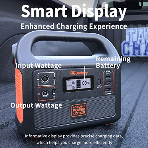 517ckSO8MUL - Jackery Portable Power Station Explorer 160, 167Wh Lithium Battery Solar Generator (Solar Panel Optional) Backup Power Supply with 110V/100W(Peak 150W) AC Outlet for Outdoors Camping Fishing Emergency
