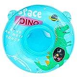 EOZY Flotador para Bebe,Anillo de Natación para Bebé Piscina,Anillo de Natación Asient,Lindo Patrón Natación Inflable Flotador para niños Entre 3-6 Años (Azul)
