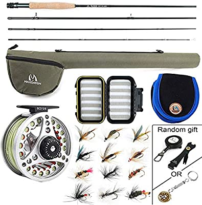 M Maximumcatch Maxcatch Extreme Fly Fishing Combo Kit 3/5/6/8 weight Fly Rod and Reel Outfit from Maxcatch