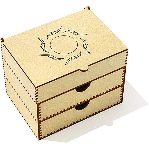 Azeeda 'Cadre Circulaire en Fleur' Boîte de Maquillage (VC00012326)
