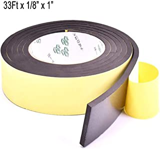 High Density Foam Insulation Tape Adhesive, Seal, Waterproof, Plumbing, HVAC, Weather Tape for Windows, Pipes, Cooling, Air Conditioning, Weather Stripping for Doors, Craft Tape (33Ft x 1/8'' x 1'')