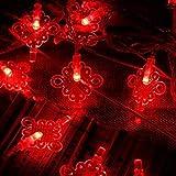 XLY Luci di Natale Lanterna, Lanterne Dentro E Fuori Lanterna Orto Alimentazione della Sicurezza della Camera Calda Bianco Decorazione Garden Party di Natale,1