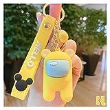Fangzwl Llavero Ornamentos Llavero de Anime de Dibujos Animados Trust Bag Llavero Anillo Joyería Colgante para niños (Color : Among US Yellow)