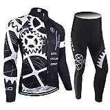 BXIO Hiver Maillots De Vélo Pro Racing Vélo Vêtements Automne Manches Longues Vélo Uniformes Homme Sport Jersey 080 (Nonwinter Breathable(Tights), 2XL)