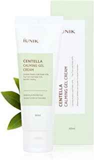 IUNIK CENTELLA Calming Gel Cream with natural ingredients from Centella Asiatica leaf water + Tea trea leaf water + Buds extracts - Whitening & Wrinkle care - 2.02 fl.oz
