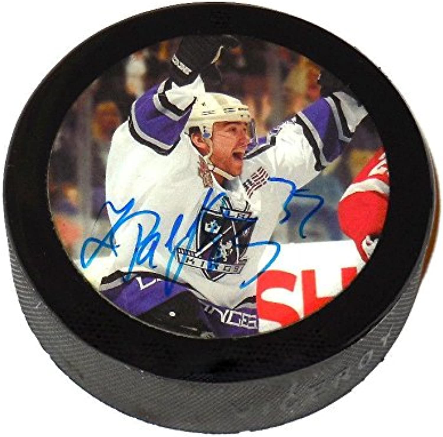 Zigmund Palffy Autographed Hockey Puck (Los Angeles Kings)  Autographed NHL Pucks