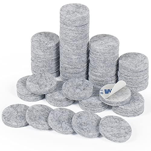 Filz Pad, 50 Stück 5mm Dick Möbelgleiter Selbstklebend Filzgleiter Bodengleiter für Möbel Stühle Bodenschützer(Grau)