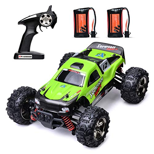MKZDGM Remote Control Car, 2.4 GHZ High Speed Racing Car with 2 Rechargeable Lithium Battery,Electric RC Cars 1:24 Scale Trucks,RC Vehicles,Radio Remote Control Truck, Off Road Monster Truck for Kids