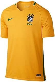 Nike Brazil Home Soccer Stadium Jersey (Yellow)