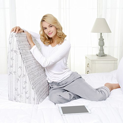 Superior-Two-Layer-Memory-Foam-Wedge-Pillow-Rayon-and-Bamboo-Pillow-Ideal-Upright-Pillow-for-Bed-24-x-24