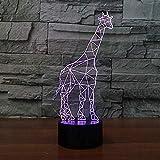 3d nachtlicht schöne giraff lampe led 7 farbwechsel baby zimmer licht usb batterie tischlampe für kind spielzeug giftnight lampen für kinder küche