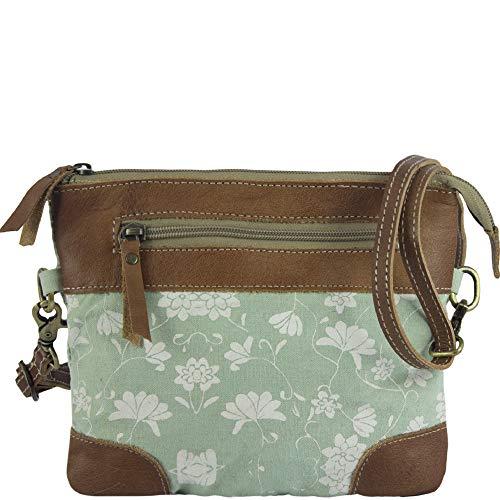 Sunsa Damen Taschen Umhängetasche Handtasche Canvas mit Leder. Kleine Vintage Crossbody Tasche/bag Schultertasche, Geschenkideen für Frauen/Mädchen nachhaltige Produkte 52494