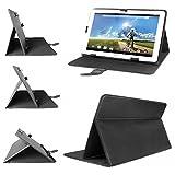 eFabrik Universal Tablet Tasche Hülle für Acer Iconia Tab 10 (A3-A20HD) 25,65 cm (10,1 Zoll) Schutztasche Schutzhülle Cover Hülle mit Aufstellfunktion hochwertige Leder-Optik schwarz