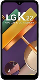 """Smartphone LG K22 Dual Chip Tela 6.2"""" Quad Core 32GB 4G Câmera 13MP+2MP Titânio Desbloqueado Claro"""