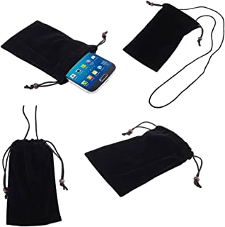 DFV mobile - Case Cover with Chain and Loop Closure Soft Cloth Flannel Carry Bag for Pharos Traveler 600 / 600e GPS Phone...
