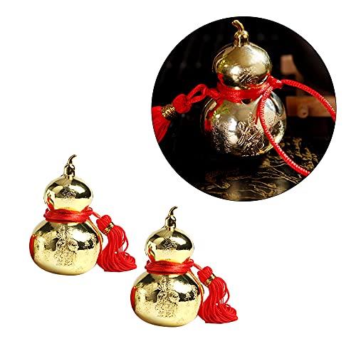 Wixine 2Pcs Feng Shui Brass Golden Metal Wu Lou Charm...