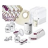 Tommee Tippee Kit completo de lactancia materna – Made for Me Bomba de mama eléctrica, biberón y calentador de alimentos y accesorios para la lactancia materna