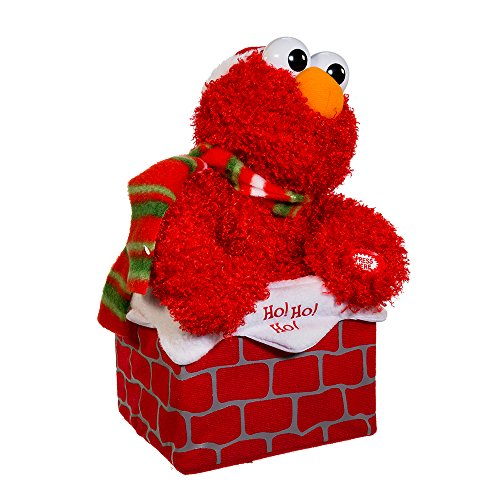 Sesame Street Kurt Adler 10-Inch Battery-Operated Singing Elmo in Chimney